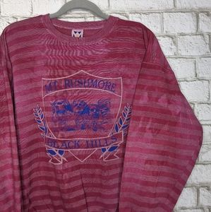 Vtg Mount Rushmore Custom Upcycle Tie Dye Crewneck